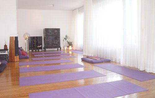 La salle de yoga a été entièrement rénovée